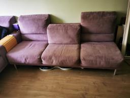 American Leather Lilac Ultrasuede Sofa image 8