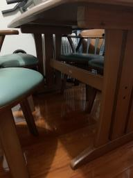 4-seater Dining Table with Chairs image 4
