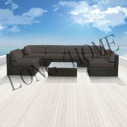 Guethary 7 pcs Wicker Patio Furniture image 1