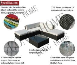Guethary 7 pcs Wicker Patio Furniture image 5