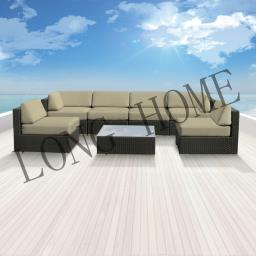 Guethary 7 pcs Wicker Patio Furniture image 2
