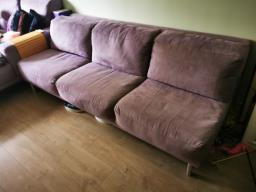 American Leather Lilac Ultrasuede Sofa image 2