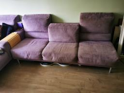 American Leather Lilac Ultrasuede Sofa image 7