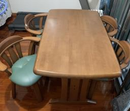 4-seater Dining Table with Chairs image 1