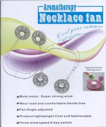 Necklace Fan with built in rechargeable image 1