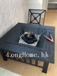 Fire pit with poker and cover image 9