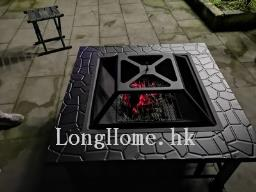 Fire pit with poker and cover image 8
