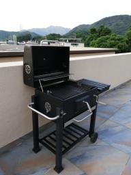 New Trolley charcoal grill with cover image 2