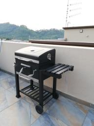 New Trolley charcoal grill with cover image 1