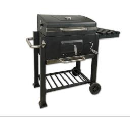Trolley Bbq charcoal grill with cover image 1