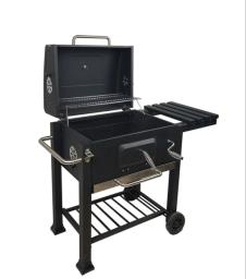 Trolley Bbq charcoal grill with cover image 3