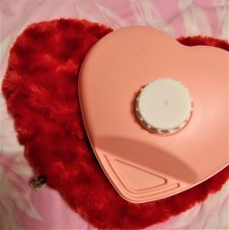 Hot Water Bottle - red heart image 2