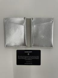 Koncept handmade leather wallet silver image 2