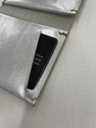 Koncept handmade leather wallet silver image 3