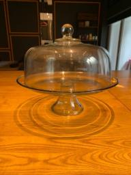Glass Cake Stand with Dome image 1