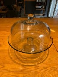 Glass Cake Stand with Dome image 2
