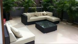 Outdoor Sofa set and Table Setumbrella image 1