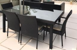 Outdoor Sofa set and Table Setumbrella image 4