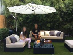 Outdoor Sofa set and Table Setumbrella image 5