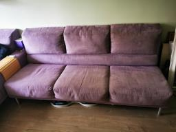 American Leather Lilac Ultrasuede Sofa image 5