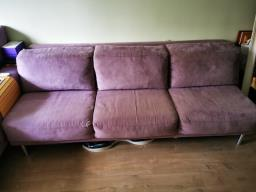 American Leather Lilac Ultrasuede Sofa image 9