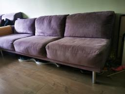 American Leather Lilac Ultrasuede Sofa image 4