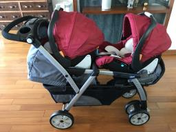Chicco double stroller together image 1