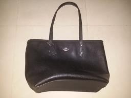Coach Black City Zip Tote Handbag image 1