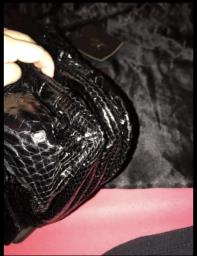 Zagliani Large Python Puffy Bag  Black image 5